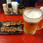 52096396 - 【2016.6.10(金)】串焼2本+生ビール