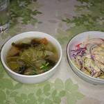チョムパイ - 2016/01/09 21:40訪問:スープ&サラダ