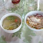 チョムパイ - 2016/03/30 11:40訪問:スープ&サラダ