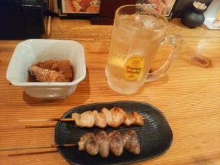 伝蔵 西口店 - 【2016.6.10(金)】小鉢&串2本+ハイボール