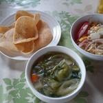 チョムパイ - 2016/05/27 12:20訪問:スープ&サラダ