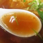 喜今日屋 - 塩トマトラーメンのスープ