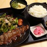 恵美須商店 - 大人気の牛ステーキランチ定食!