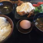 宮崎県日南市 塚田農場 - チキン南蛮+究極の卵かけごはん(900円)