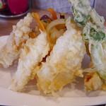 蕎麦DAYS - 天ざるの天ぷら