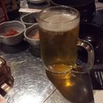 ソウルの家 - まずはビールですっ♪