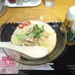 リンガーハット - 冷やしちゃんぽん【白】白湯スープ¥740