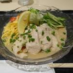 52107443 - 冷し阿波尾鶏おろしゴマだれぶっかけ素麺