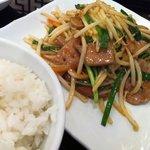 中華ダイニング 唐庄酒家 - レバとニラ炒め定食