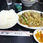 中国料理 登龍 - レバー野菜炒め定食(大盛)