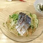 福島壱麺 - 冷やし塩そば+〆わさび飯 850円