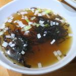 金海湾 - 高菜チャーハンに付くスープ