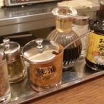 吉田とん汁店 - 玉子用醤油もアリ 2016.6