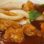 豚々亭 - サービス定食の酢豚