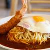 ナポリ - 料理写真:ベーコンエッグ+エビフライ