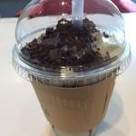 スルークカフェ - チョコミントスムージーを飲んだ。 税込480円。 清々しい。