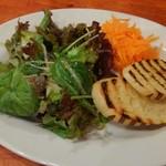52122817 - セットの野菜サラダとパン
