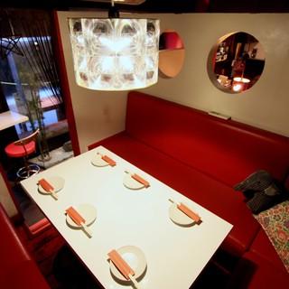 [個室あり]女子会利用に大人気☆赤い個室☆