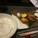 四季茶房八夢 - 5000円コース・主皿&御飯