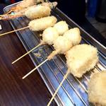 大衆串揚酒場 足立屋 - 『串カツセット』様(4本で300円前後:今回は千ベロ)これは2人分です。