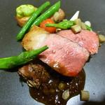 52132434 - 仔羊背肉のグリエ 旬野菜のロースト