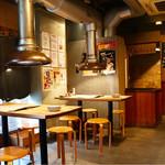 ばつぐんや - 下町風の昔ながらの焼肉屋の雰囲気