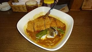 華麺 - ホット+ポークカツ