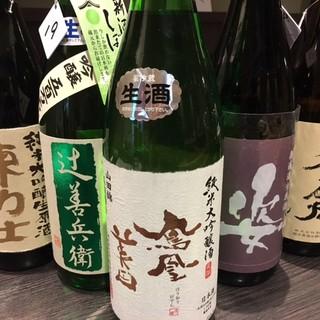 栃木の地酒を主体とした豊富な日本酒