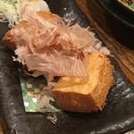 居酒屋 ちょーちょ - 厚揚げは、大町の上村豆腐店のものだそうです。