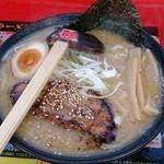 函館バスラーメン花道 - 花道流味噌ラーメン なかなかのボリューム感です。