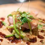 エクアトゥール - 2016.6 京都産豚肩ロース炭火焼 ローズマリーのソース