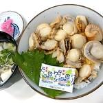 市場の食堂 - ホタテ丼(600円)