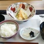 日本料理 椿 - 天婦羅+御飯・味噌汁・漬物