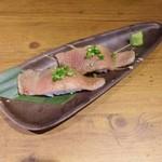 東京焼肉 - 和牛炙り寿司