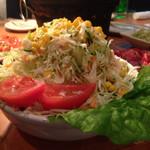 焼肉ざんまい - これで半サラダ