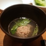 焼肉 うしごろ - かぶと牛タンのつみれスープ