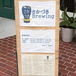 さかづき Brewing - 2016.6 店先の看板