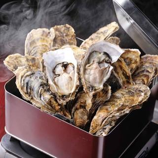 ★牡蠣の魅力たっぷり!酒蒸しにして頂くガンガン焼き