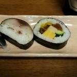 末広すし - バルメニュー、サバ寿司と、おかげ寿司