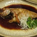 新鮮な魚介類と地酒専門店 おやじの隠れ家 魚武 - ノドクロの煮付け、絶品です