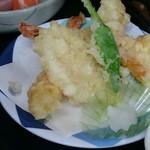 お食事処 味波季 - 海老と野菜の天ぷら