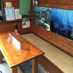 焼きまんじゅう島村 - 店内テーブル席