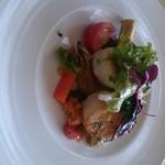 52149196 - ホタテと季節のお野菜美味しかったぁぁ♪