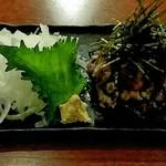 とり乃屋 - 地鶏タタキちゃん1050円