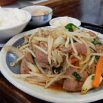 れんこん - 料理写真:「レバニラ炒め定食」