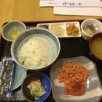 52151342 - 明太子しゃけ定食+納豆海苔タマゴ9ドル