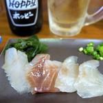 立呑み 魚平 - 黒鯛昆布〆 ¥200