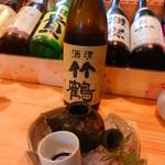 鳥と魚 - 竹鶴(純米酒)