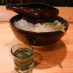 鳥と魚 - 新政94%(生酛純米)はこちらの酒器で頂きます
