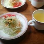 ソレイユ - 料理写真:サラダとスープ